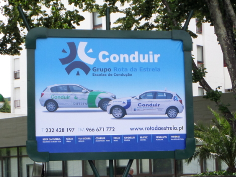 escola de condução conduir outdoor 4x3m zoom