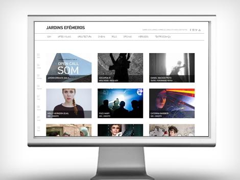 jardins efémeros homepage website